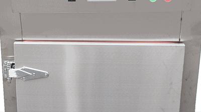 Máy sấy thực phẩm khí nóng công nghiệp GE - Bản lề và cánh cửa chắc chắn tránh thoát nhiệt