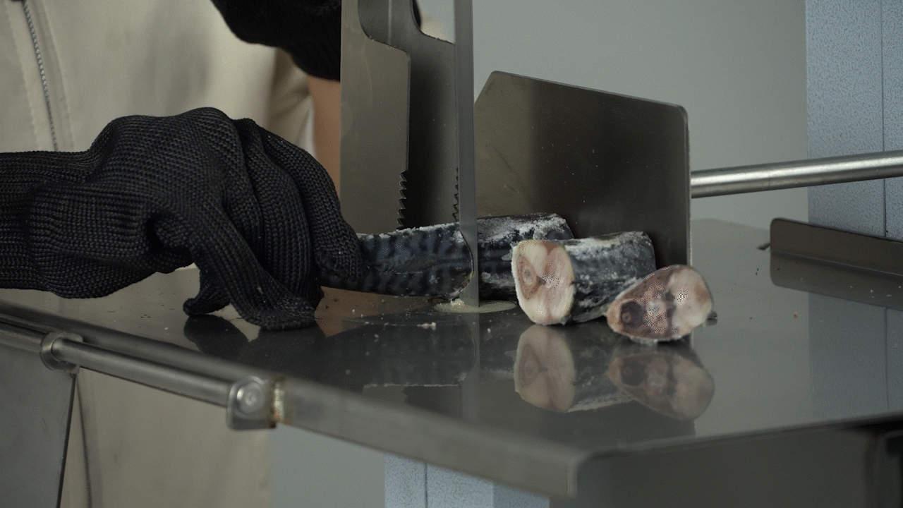 Máy cắt xương máy cưa xương thịt đông lạnh BC130 và BC190 cắt cá đông lạnh rất cứng