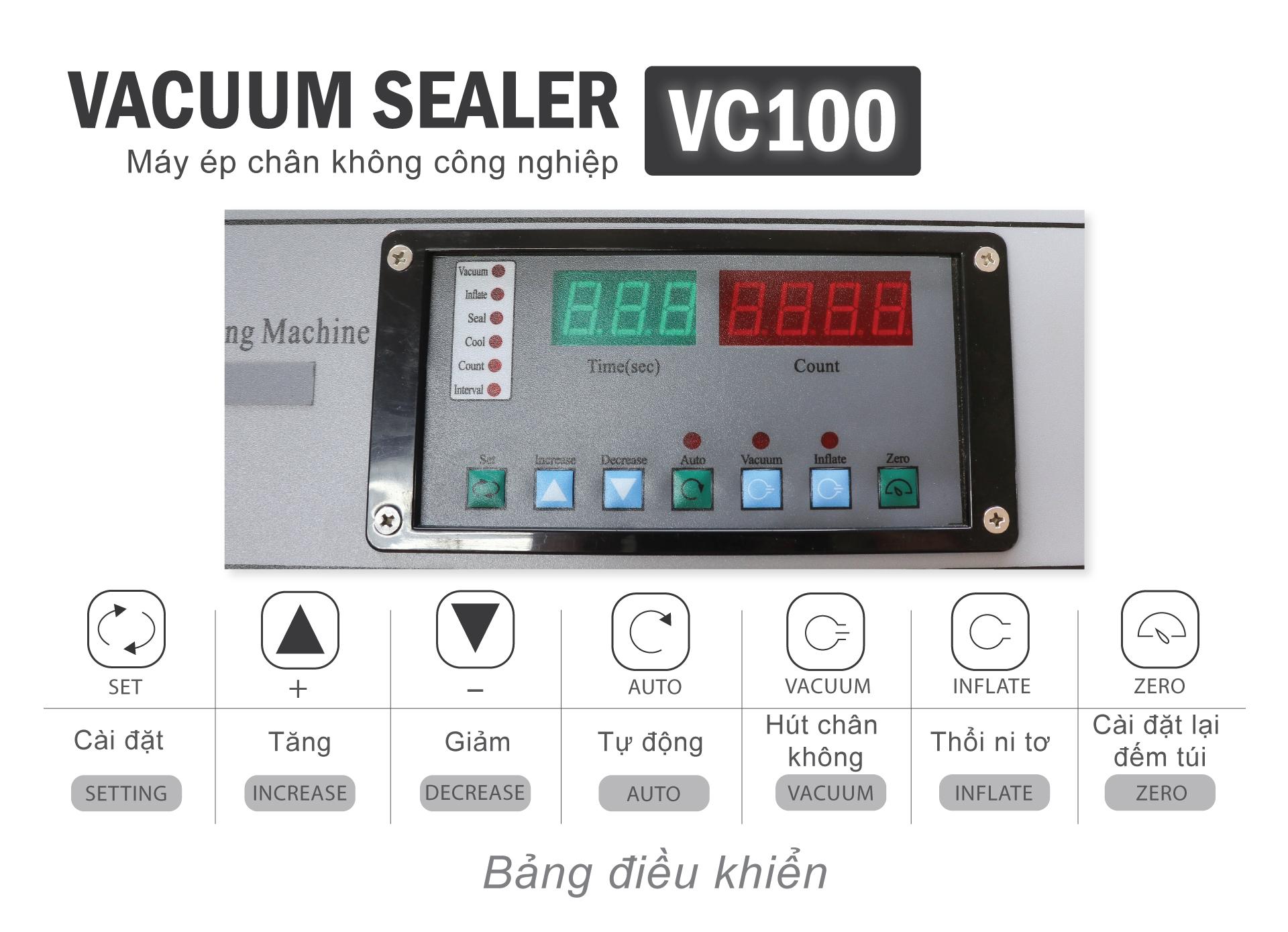 Máy-ép-chân-không-công-nghiệp-VC100---Bảng-điều-khiển