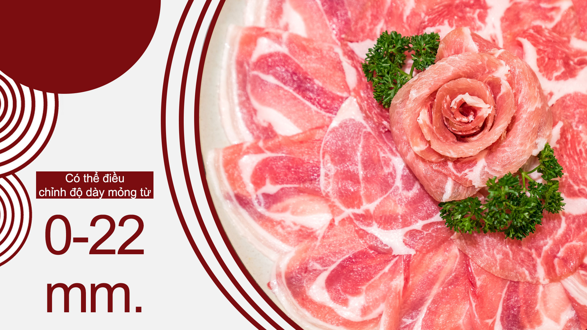 Meat-slicer-ปรับระดับความหนาบาง