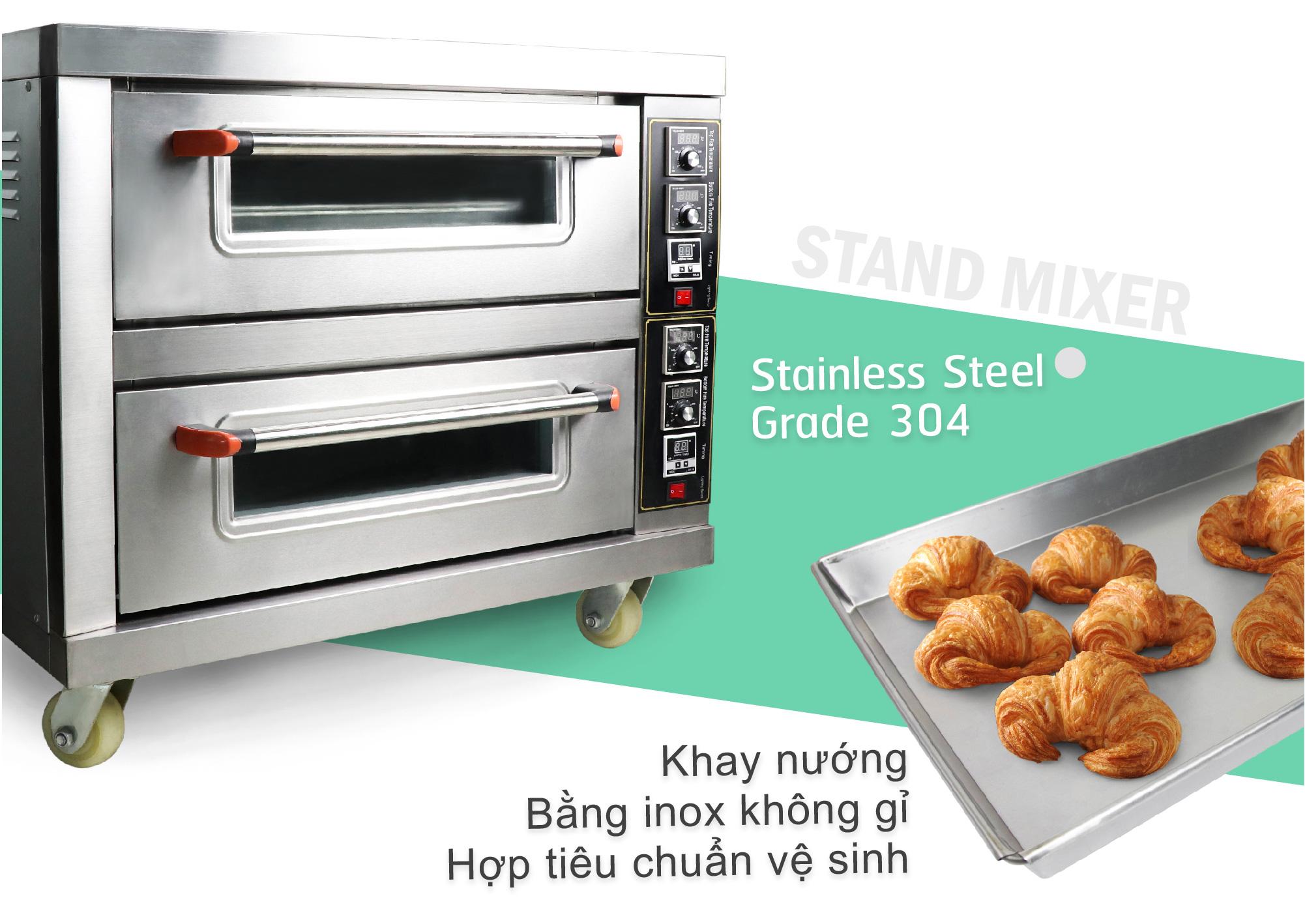 Lò nướng bánh mì dùng điện 100%-สแตนเลส