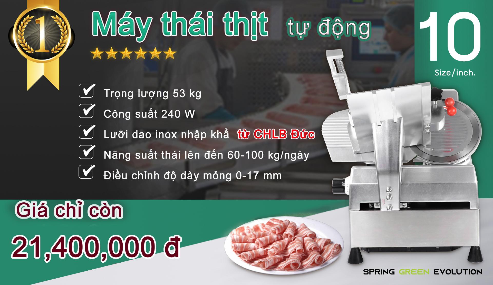 Máy Thái Thịt Bò-10นิ้ว-autoVN