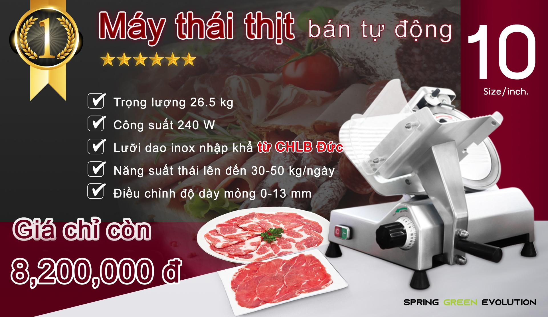 Máy Thái Thịt Bò-10นิ้วVN