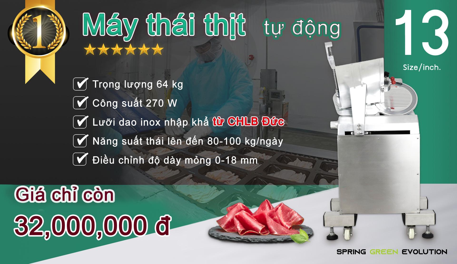 Máy Thái Thịt Bò-13นิ้ว-autoVN