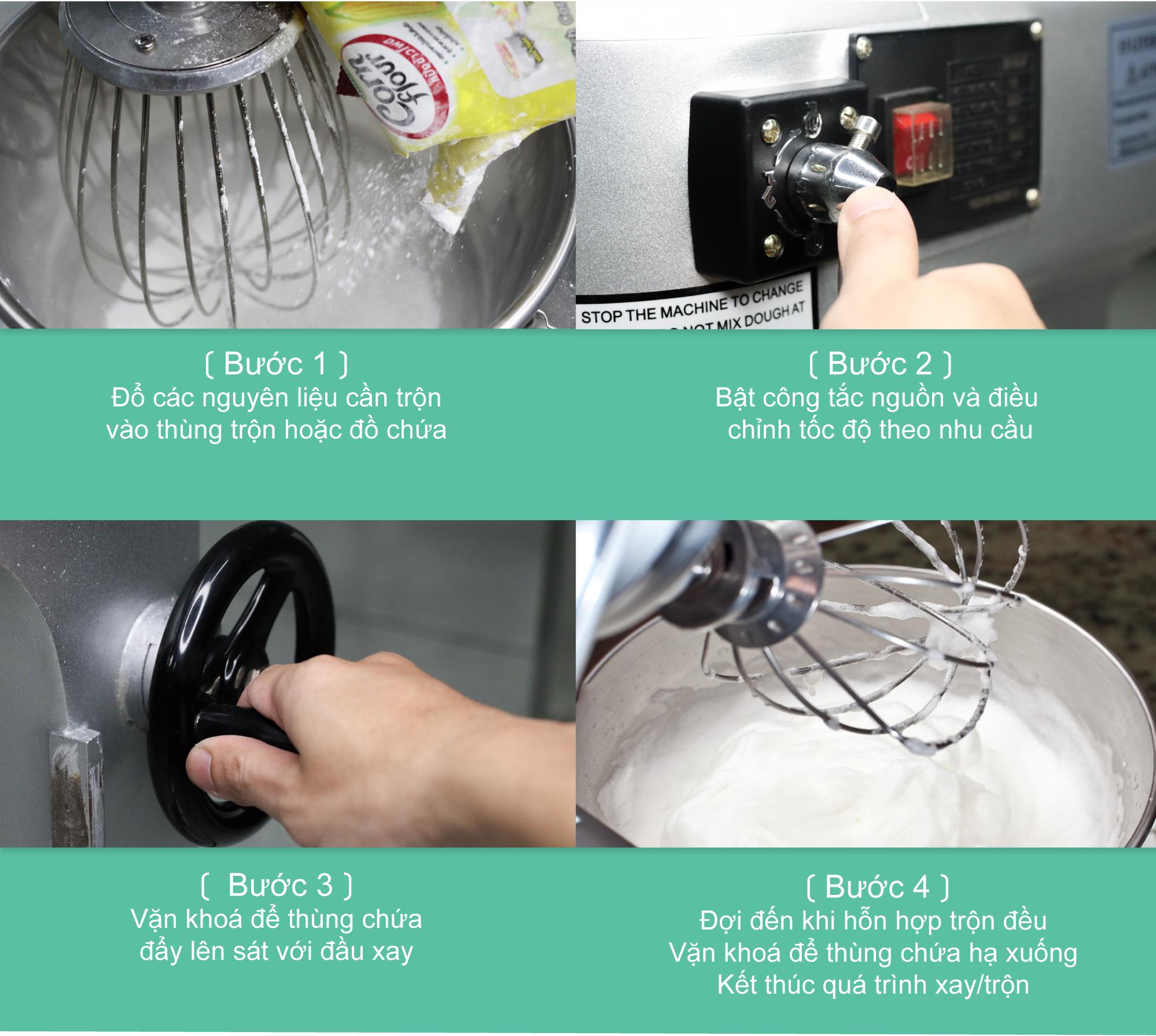 Các bước vận hành của máy trộn thực phẩm EM