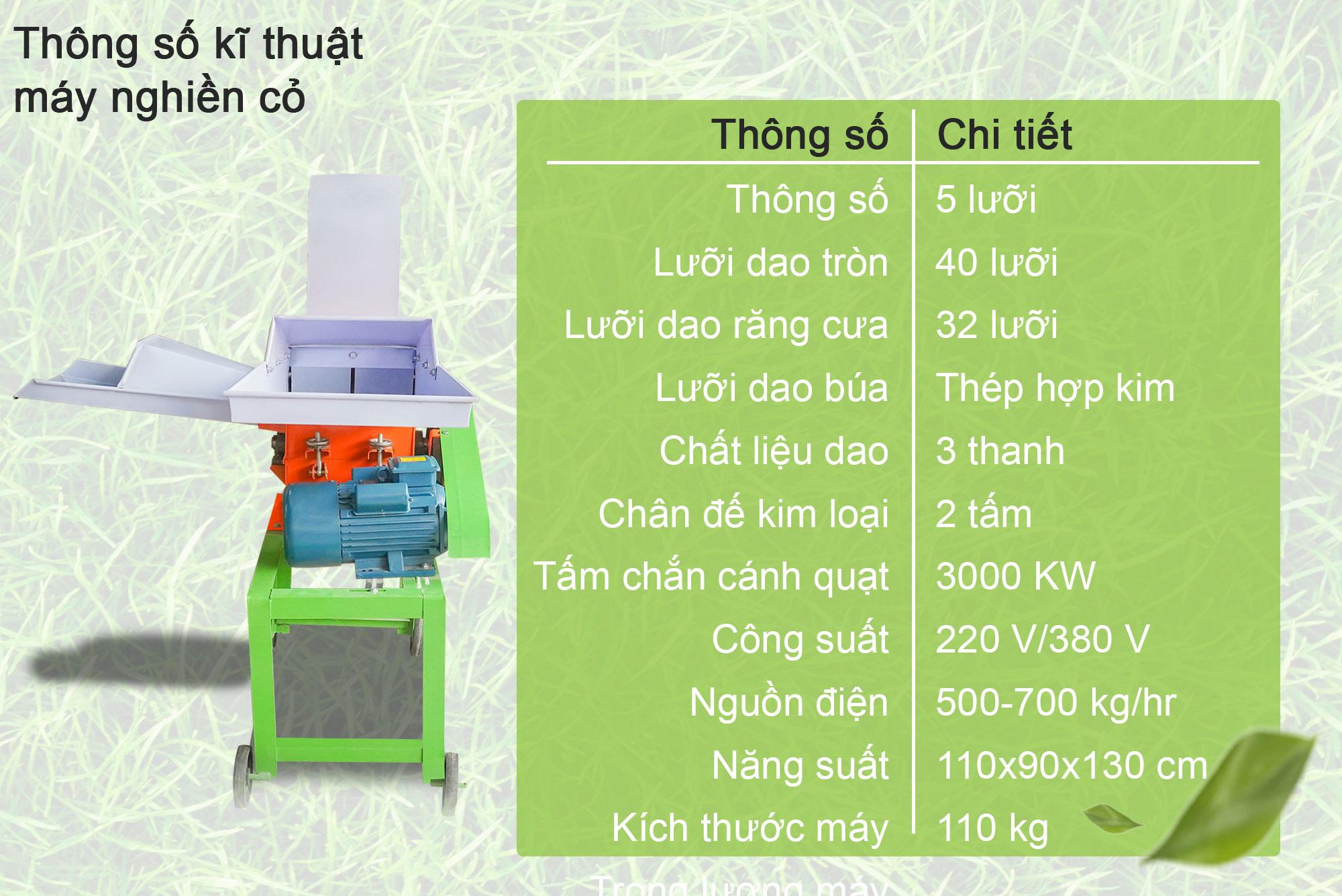 Máy nghiền cỏ đa năng CC01-รายระเอียดVN